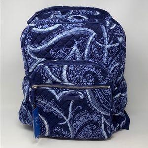 Vera Bradley iconic campus backpack indigo NWT!!